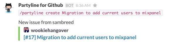 Create new GitHub Issues in Slack